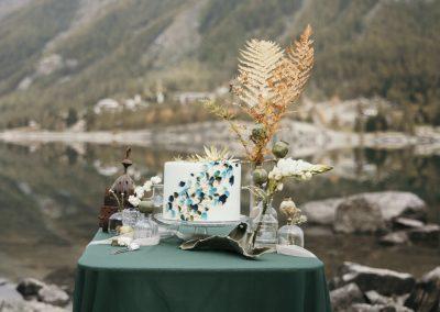 Matrimonio sul lago di montagna