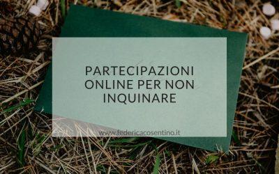 Partecipazioni online per non inquinare – partecipazioni matrimonio ecologiche